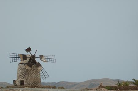 fuerteventura: windmill, Fuerteventura Spain Stock Photo