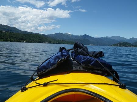 orta: Kayaking on Lake Orta.