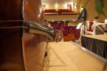 internships: Violin in the empty theater before the show