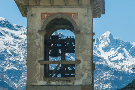 Bell tower and alps