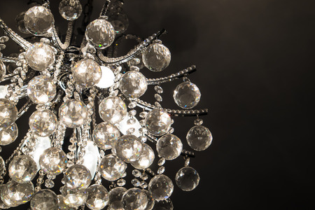 medium size: close up medium size silver Chandelier at the ceiling