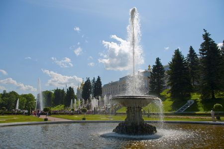Fountains in Petrodvorets near S.-Petersburg (Russia) photo