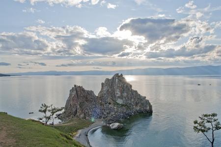 Lake Baikal, Olkhon Island, Cape Burkhan (Rock Shamanka)  photo