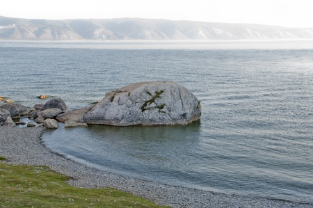 Lake Baikal, Olkhon Island, Cape Burkhan (Rock Shamanka)   photo