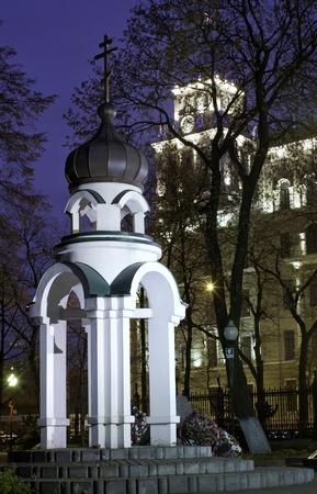 voronezh: Central of Voronezh town. Night landscape.