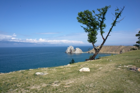 Shamanka Rock, Baikal  Stock Photo - 14854351