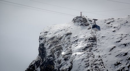 Lift in austrian ski resort in the Alps, Austria