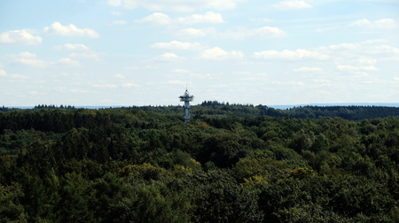 view of Aken from watchtower at three border point in Vaals (the Netherlands)