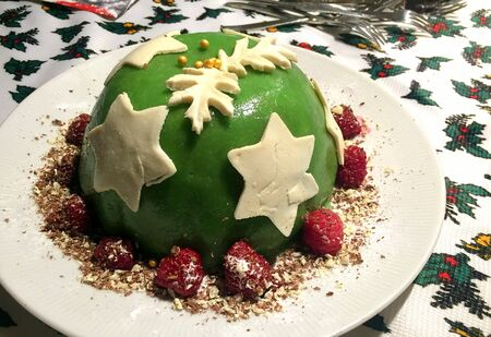 green christmas green with white stars dessert amsterdam