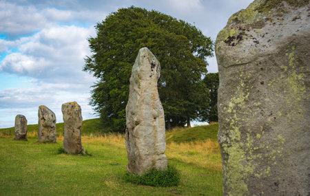 Impressive standing stones from the historic circle in Avebury Wiltshire. Standard-Bild