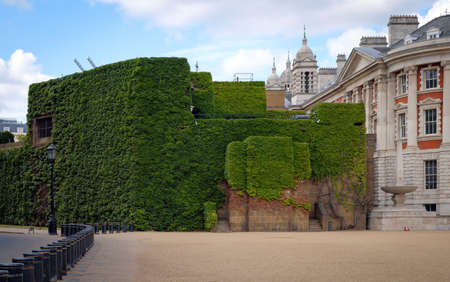 green wall in the city of london near the park united kingdom