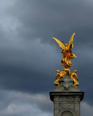 Ornate Queen Victoria Memorial in front of Buckingham Palace, London, United Kingdom.