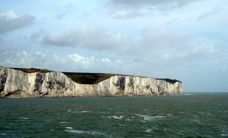 white cliffs of dover grass clear sky sea england united kingdom