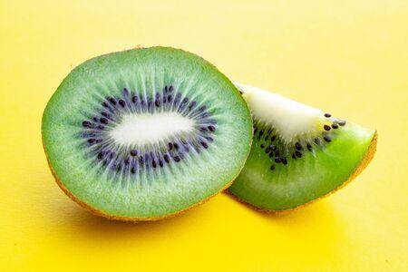 Kiwifruit. Green fresh juicy kiwi. Organic nutrition concept.