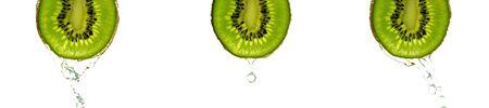 Kiwi slice. Juicy green kiwifruit. Organic fresh fruit