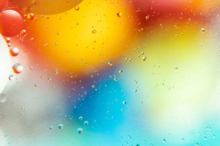 Water bubbles. Macro shot of air or molecule. Abstract space background. Imagens