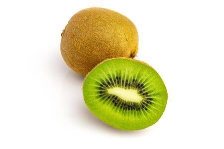 Kiwi fruit. Green kiwifruit isolated on white background. Reklamní fotografie