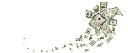 L'argent tombe. argent américain. Argent américain de Washington, fond d'USD.