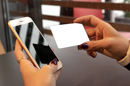 Credit card payment. Money in Smartphone. Bank money concept.