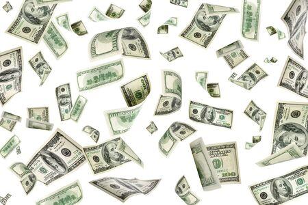 Money falling. American money. Washington american cash, usd bac