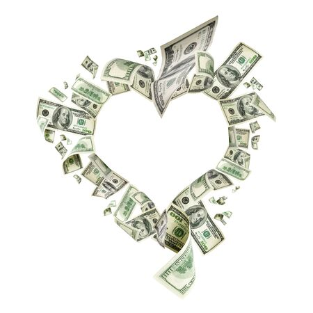 Us dollar. American money, falling cash. Flying hundred dollars