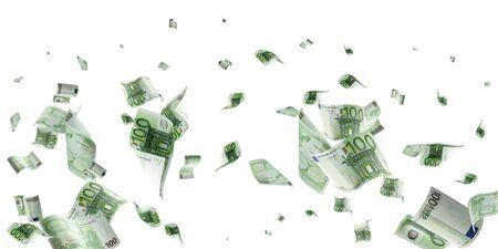 Money background. Hundred european euro.Business cash money falling. Euro money falling cash.