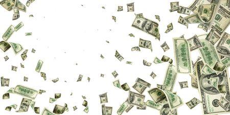 Dollar bill. Washington american cash. Usd money background. Money falling.