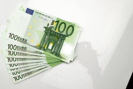Money background. Hundred european euro.Business cash money falling. Euro money falling cash.