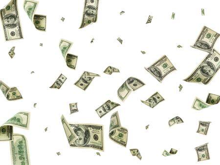 Fondo de dinero. Cien dólares de América. Dinero en efectivo en dólares estadounidenses cayendo.