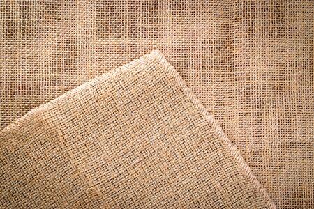 Linen background. Natural organic beige canvas. Brown woven Backdrop. Linen weave Material cotton background Banque d'images