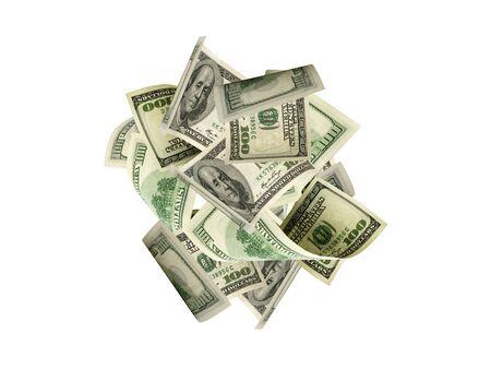Dollar sign American money. Cash background us bill. Money falling.