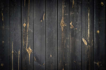 Wood table top view. Timber plank surface wall for vintage grunge wallpaper. Old floor wooden pattern. Dark grain panel board table with copy space. Montage product design concept.