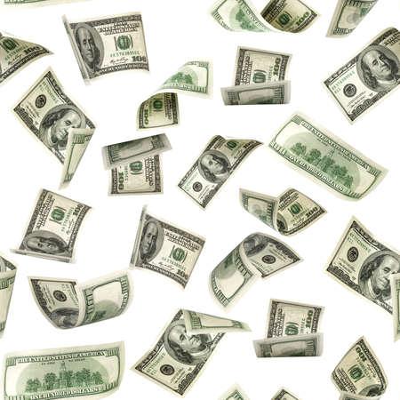 Seamless money pattern. Dollar bill. Washington American cash. Usd money isolated on white background Archivio Fotografico