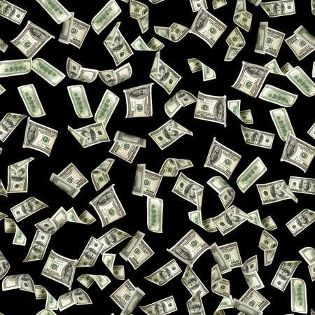 Money seamless pattern isolated on black. American money. Washington American cash, usd background.