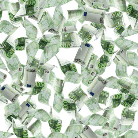 Money falling seamless pattern. Banknote falling isolated textures on white background