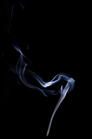 Smoke steam. Blur white smoke, abstract fog or steam mist cloud isolated on black background. Steam flow in pollution, vapor cigarette, gas, dry ice