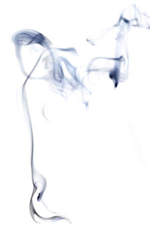 Smoke abstract. Blur black smoke, abstract fog or steam mist cloud isolated on white background. For overlay in pollution, vapor cigarette, gas, dry ice