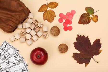 Board game lotto Autumn theme