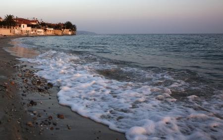 A beach in a fishing village