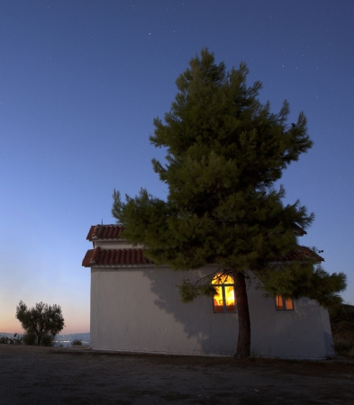 Greek orthodox church at the night