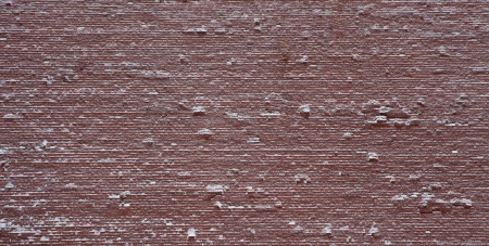 Frozen red wall in red square in Moscow