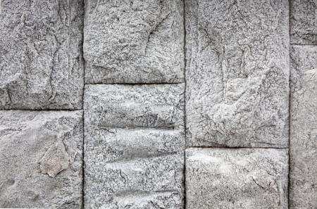 Frozen stones wall in winter