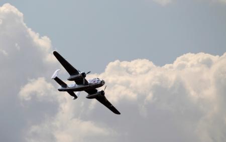 An airplane jet flies during an air show