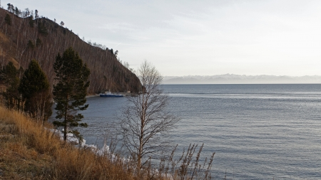 A large lake Baykal in southern Siberia, in Russia