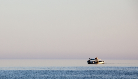 A fishing boat in the Aegean sea