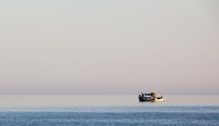 A fishing boat in the Aegean sea