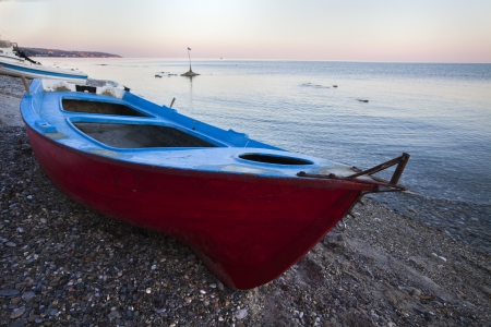 A fishing boat at a seaside