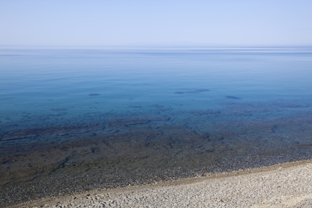 Aegean sea during the sunrise in Greece