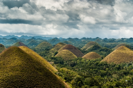 bohol: chocolate hills on bohol, philippines