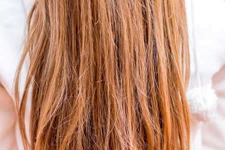 Hair is a woman who needs care. Texture of hair